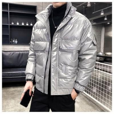 トップス ダウンジャケット メンズ オシャレ ビッグサイズ フワフワ 厚手 暖かい ファション ゆったり 防寒  アウター 冬物