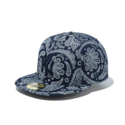 帽子 キャップ ニューエラ キャップ 59FIFTY DENIM PAISLEY MLB ニューヨークヤンキース NEW ERA