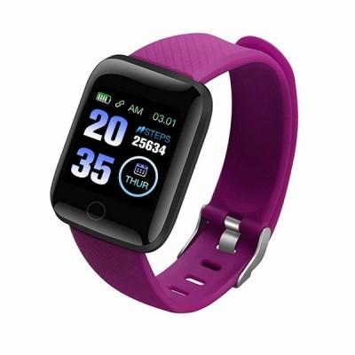 新しいsamload 防水 スマート 腕時計 すべてのスマートフォン子供116プラス スマートウォッチ 心拍数トラッカー男性 スポーツ  腕時計