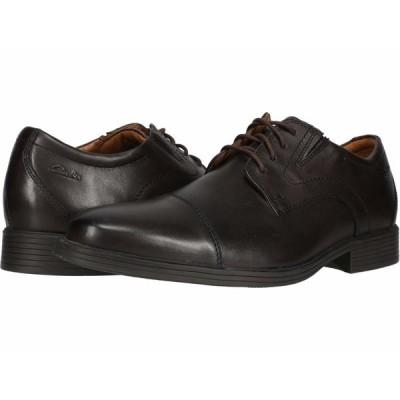 クラークス オックスフォード シューズ メンズ Whiddon Cap Dark Brown Leather