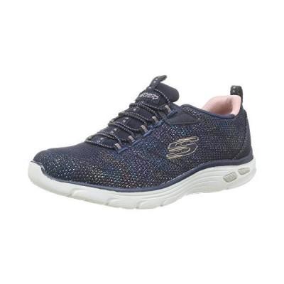 Skechers womens Sneaker, Navy/Rose/Gold, 5.5 US