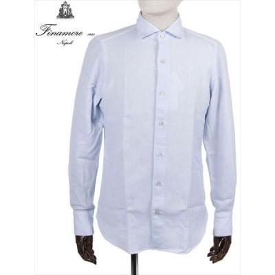 FINAMORE フィナモレ TOKYO トーキョー ETTORE コットンシャツ ブルー 081274 A8408 国内正規品