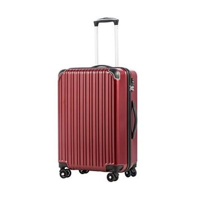 [クールライフ] COOLIFE スーツケース キャリーバッグダブルキャスター 二年安心保証 機内持込 ファスナー式 人気色 超軽量 TSAローク (