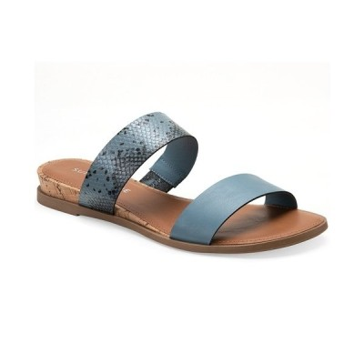 サンアンドプラスストーン サンダル シューズ レディース Easten Slide Sandals, Created for Macy's Blue Snake