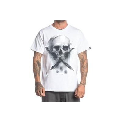 Tシャツ サレン Sullen Men's Water Badge T Shirt White Tattooed Tee T-Shirt Clothing Apparel