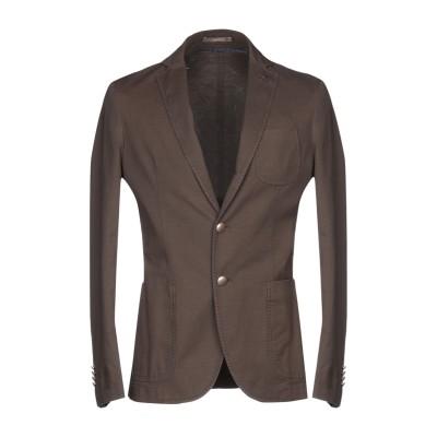 パオローニ PAOLONI テーラードジャケット ライトブラウン 52 コットン 87% / 麻 11% / ポリウレタン 2% テーラードジャケット