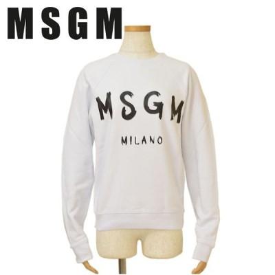 スウェットトレーナー MSGM エムエスジーエム レディース ロゴ emm19w501 2741MDM89 01 WHITE ホワイト