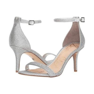 サム エデルマン Patti Ankle Strap Heeled Sandal レディース ヒール パンプス Soft Silver Glam Mesh