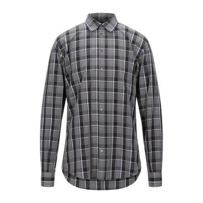DOLCE & GABBANA チェック柄シャツ  メンズファッション  トップス  シャツ、カジュアルシャツ  長袖 グレー