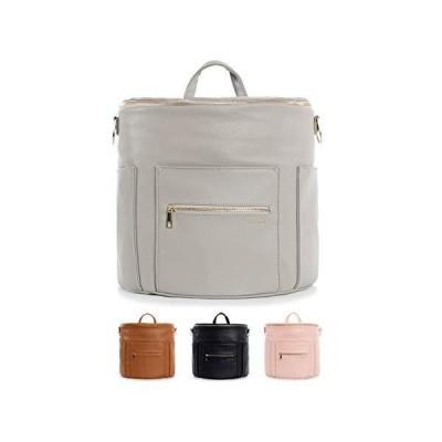 Fawn Design Mini backpack For Women - Vegan Faux Leather - 2019 Ed. - Gray 並行輸入品