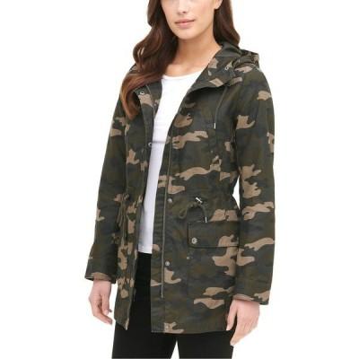 リーバイス ジャケット&ブルゾン アウター レディース Women's Printed Cotton Hooded Jacket Camo