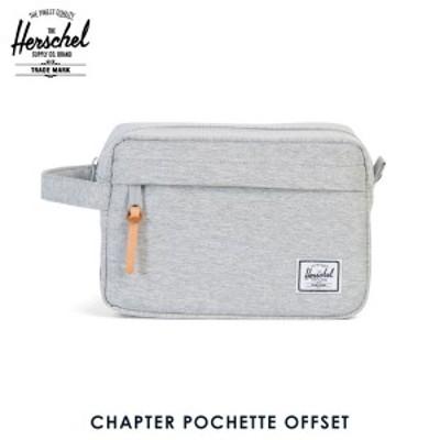 ハーシェル Herschel Supply 正規販売店 ポシェット CHAPTER POCHETTE OFFSET 10039-01458-OS LIGHT GREY CROSSHATCH STRIPE