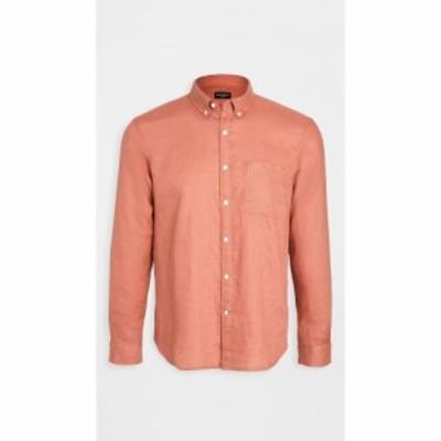 クラブ モナコ Club Monaco メンズ シャツ トップス solid linen shirt Coral