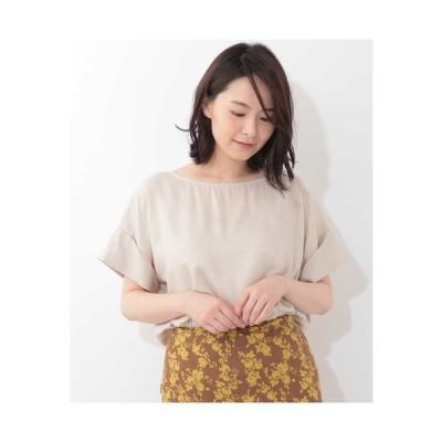 OFUON / 麻混デザインカットソー
