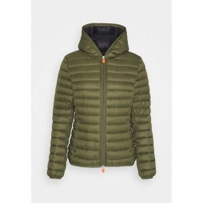 セーブザダック ジャケット&ブルゾン レディース アウター GIGA DAISY HOODED JACKET - Winter jacket - dusty olive
