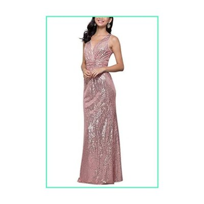 LanierWedding Gold Sequins Bridesmaid Dresses Plus Size Prom Dresses 600 Pink Size 20 Plus並行輸入品