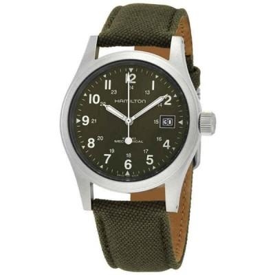 腕時計 ハミルトン メンズ Hamilton Khaki Field Mechanical Green Dial Men's Watch H69439363