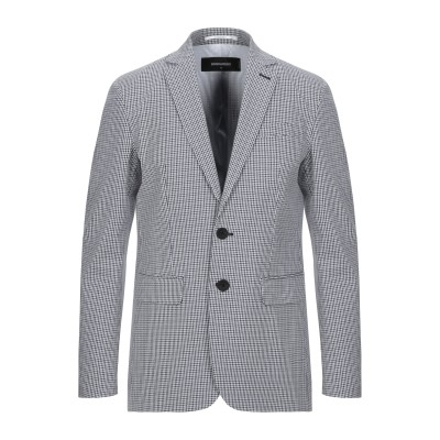 ディースクエアード DSQUARED2 テーラードジャケット ホワイト 48 コットン 50% / ナイロン 48% / ポリウレタン 2% テーラ