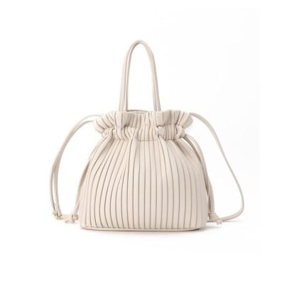 SHOO・LA・RUE / 2WAYプリ-ツ巾着バッグ WOMEN バッグ > トートバッグ