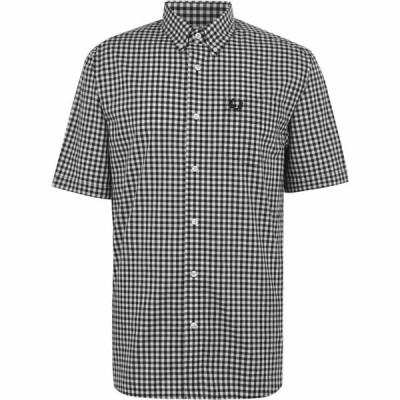 フレッドペリー Fred Perry メンズ 半袖シャツ トップス Checked Shirt Black