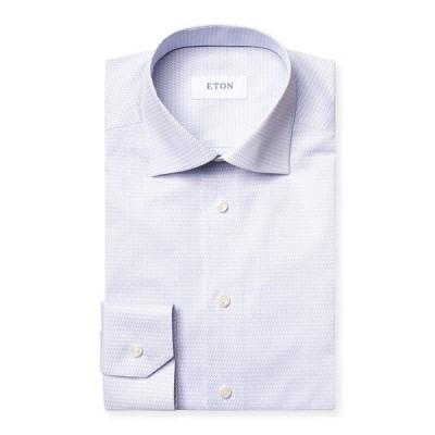 エトン メンズ シャツ トップス Men's Micro Music Note Contemporary-Fit Dress Shirt