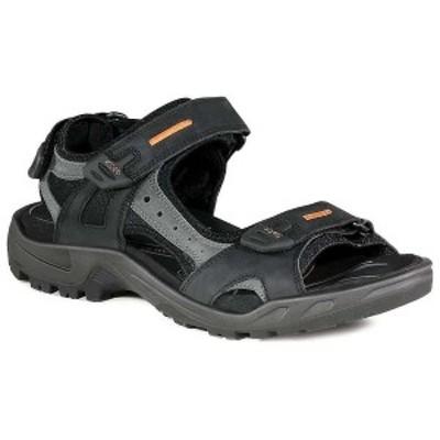 エコー メンズ サンダル シューズ Ecco Men's Yucatan Sandal Black / Mole / Black
