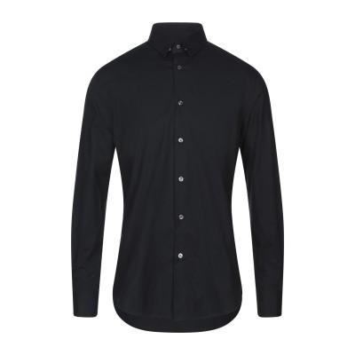 パル ジレリ PAL ZILERI シャツ ブラック 37 コットン 97% / ポリウレタン 3% シャツ