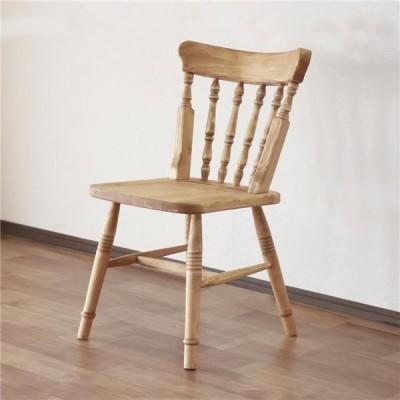 北欧風 ダイニングチェア/食卓椅子 〔ナチュラルブラウン〕 48.5×52.5×82.5cm 木製 パイン材 オイル塗装 完成品 〔リビング〕