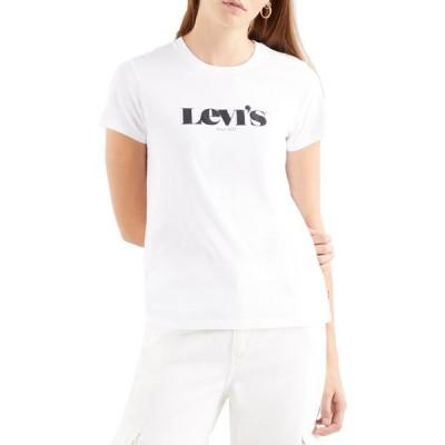 リーバイス Levi's レディース Tシャツ トップス the perfect short sleeve t-shirt New Logo Ii White+