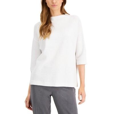 アルファニ ニット&セーター アウター レディース Elbow-Sleeve Sweater, Created for Macy's Brilliant White