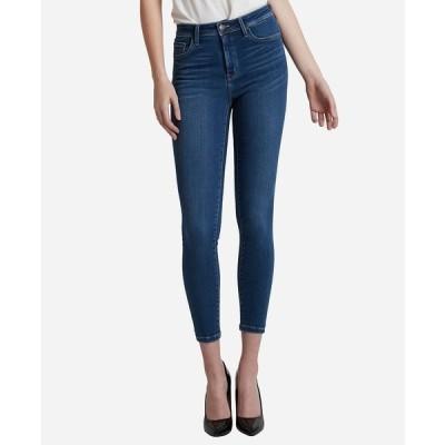 フライングモンキー デニムパンツ ボトムス レディース High Rise Super Soft Skinny Ankle Jeans Navy