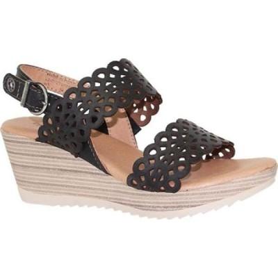 ドロミダリス Dromedaris レディース サンダル・ミュール シューズ・靴 Libby Quarter Strap Sandal Black Waxed Leather