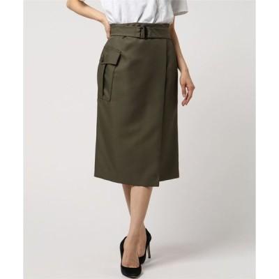 スカート ミリタリーラップスカート
