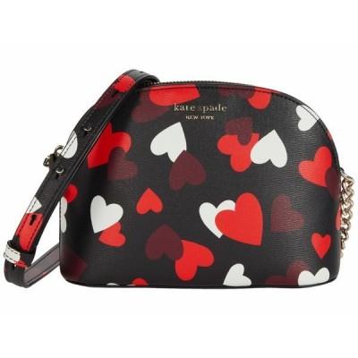 ケイト スペード ハンドバッグ バッグ レディース Spencer Celebration Hearts Small Dome Crossbody Black Multi