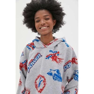 ニューガールオーダー NEW girl ORDER レディース パーカー スウェット トップス Sport Logo Hoodie Sweatshirt Grey