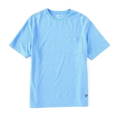 クレミュ メンズ Tシャツ トップス Stripe Short-Sleeve Tee Sky