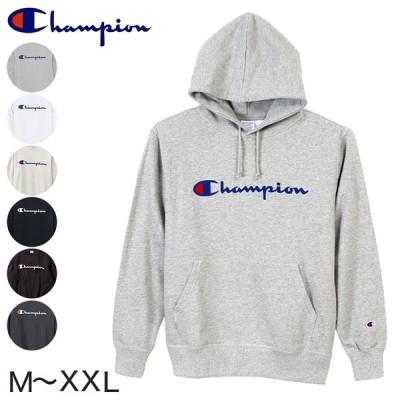 Champion 裏毛プルオーバーフード プリントスウェットシャツ M〜XXL (チャンピオン 裏毛 パイル メンズ 男性) (在庫限り)