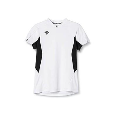 [デサント] 半袖ゲームシャツ 吸汗速乾 ストレッチ DSS-4923 WHT M
