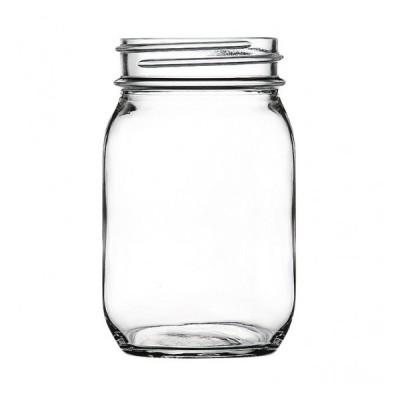 サービングジャー 450 ガラス キャニスター&ボトル 業務用 約65(最大81)mm