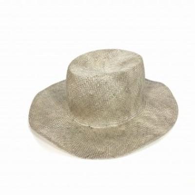 【中古】レナードプランク REINHARD PLANK 汚し加工 ストローハット 麦わら帽子 MILITARY RAS ナチュラル SIZE 11 L