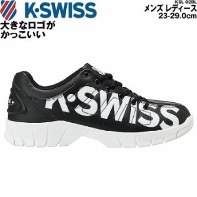 ケースイス スニーカー メンズ レディース シューズ 厚底 ビッグロゴ KSWISS KSL 02BL