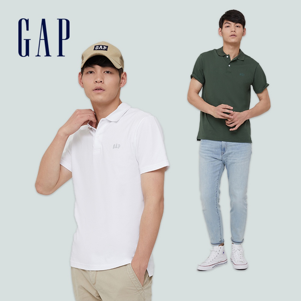 Gap 男裝 Logo純棉素色POLO衫 889904 (多色可選)