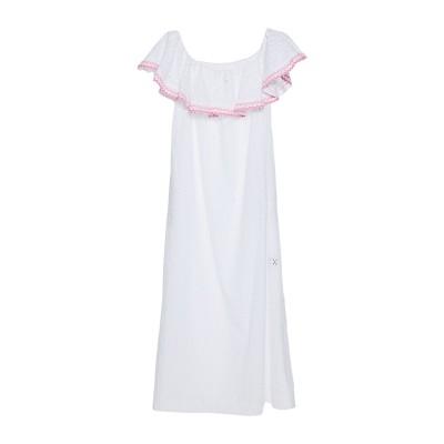 リサ・マリー・フェルナンデス LISA MARIE FERNANDEZ ロングワンピース&ドレス ホワイト 2 コットン 100% ロングワンピース