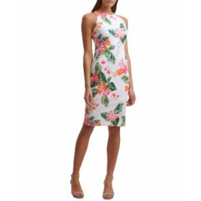 ゲス レディース ワンピース トップス Tropical-Print Bodycon Dress White Multi