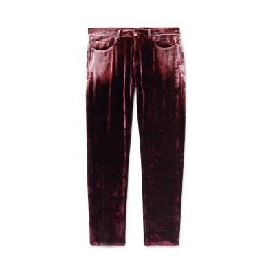 SAINT LAURENT パンツ ガーネット 29 レーヨン 85% / シルク 15% パンツ