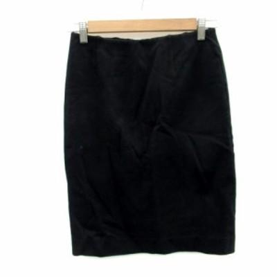 【中古】ドゥーズィエムクラス DEUXIEME CLASSE スカート タイト ひざ丈 38 ブラック 黒 /MS13 レディース