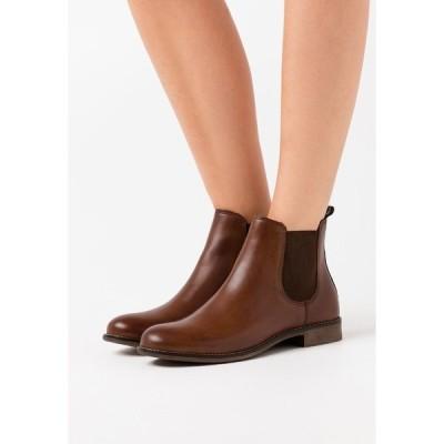 アンナフィールド ブーツ&レインブーツ レディース シューズ LEATHER - Ankle boots - cognac