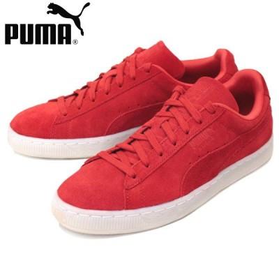 sale セール PUMA (プーマ) 360850 SUEDE CLASSIC COLORED (スウェードクラシック) ローカットスニーカー 02 ハイリスクレッド/ブラック PM157