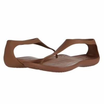 クロックス Crocs レディース ビーチサンダル シューズ・靴 Sexi Flip Bronze