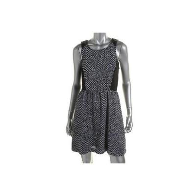 ケンジー ドレス ワンピース Kensie 1387 レディース グレー Crepe プリントed ノースリーブ Party ドレス XL BHFO